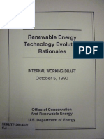Renewable Energy Technology Evolution Rationales - 1990