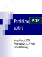 Parallel Prefix Adders Presentation