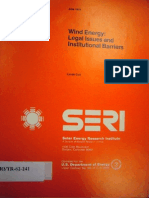Wind Energy - Legal Issues and Institutional Barriers - 1979