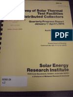 Survey of Solar Thermal Test Facilities Distributed Collectors - 1978