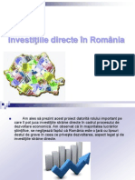Investitii Straine in Romania