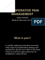 Postoperative Pain Mangement