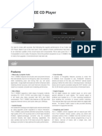 NAD C546 BEE CD Player - Data Sheet