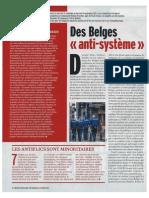 """Des Belges """"anti-système"""", Marianne Belgique, 28 septembre 2013."""