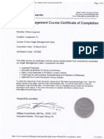 Certificate of Completion of Anger Management Course