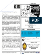 St. Augustine Catholic Church Sunday Bulletin, October 6, 2013