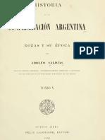 Adolfo Saldias - Historia de la Confederacion Argentina V