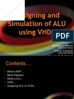 7212736 Designing and Simulation of ALU Using VHDL
