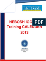 NEBOSH IGC Training Calender.2013.Rev.1