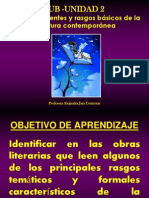 SUBUNIDAD 2 Temas y Rasgos Caracteristicos de La Literatura Contemporanea
