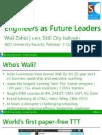 Engineers as Future Leaders @ NED Wali Zahid