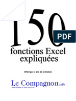 150 Fonctions Excel