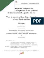 Sémantique et composition des règles d'adaptation d'un système de raisonnement à partir de cas – Vers la construction d'une base de règles d'adaptation