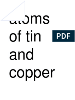 Atoms of Tin and Copper Have Different Size