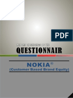 Report on Findings of Questionnaire (Nokia's Brand Equity )