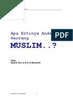 Apa Ertinya Anda Seorang Muslim (MAUDUDI)
