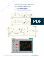 DC-AC SOUNDCARD OSCILLOSCOPE with HC4066 IC