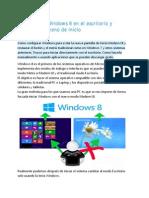 Iniciar Windows 8 en el escritorio y recuperar el menú de inicio