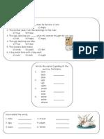 Ugly Duckling worksheet