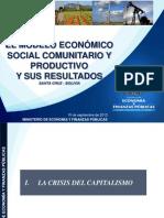Bolivia el modelo económico social comunitario y sus resultados