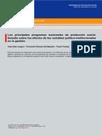 45 DT Proteccion Social, Principales Programas de Proteccion Social, Langou, Forteza y Potenza, 2010