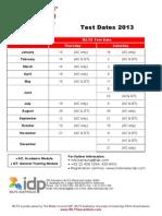 Bandung - 2013 GABUNGAN Test Dates Conditions Dan Workshop Test Dates