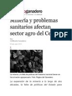 Minería y problemas sanitarios afectan sector agro del Cesar