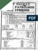 Police Strike  Page one