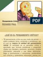 RICHARD PAUL- Pensamiento Crítico
