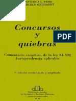 Fassi, Santiago - Gebhardt, Marcelo - Concursos y Quiebras