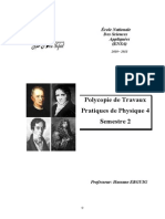 Polycopie de Travaux Pratiques de Physique 4