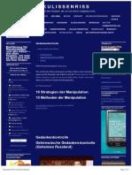 Gedankenkontrolle - Strategien der Manipulation - Gehirnwäsche Gedanken-kontrolle - ssl-101758.1blu.de