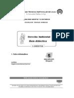 Derecho Ambiental - Guía Didactica - Con preguntas y respuestas