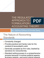 The Regulatory Approach to the Formulation of An