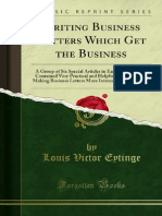 Writing Business Letters Which Get the Business