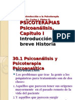 PSICOTERAPIAS Psicoanálisis Cap I