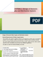 PLUMBING SYSTEMS 2-Design of Domestic Water Supply and Distribution System