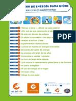 cuaderno de energía para niños