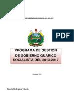 Programa de Gobierno Guárico 2013-2017[1]