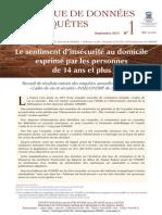 Cadre de vie et sécurité INSEE-ONDRP de 2007 à 2012