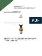 Vitone Rubinetto d'Arresto Ad Incasso