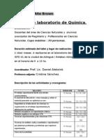 Poster Taller de laboratorio de Química ISFD Nº 41