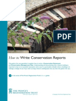 How to Write Conservation Reports