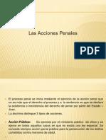 3.- Las Acciones Penales
