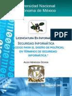 PROCESOS PARA EL DISEÑO DE POLÍTICAS DE SEGURIDAD INFORMÁTICA