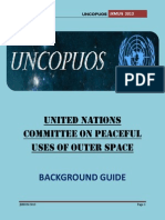 Background Guide UNCOPUOS JKMUN 2013