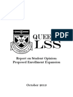 Preliminary Report on Student Opinion - Proposed Enrollment Expansion