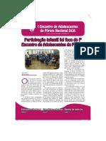 Jornal_Encontro de Adolescentes Do Forum Nacional