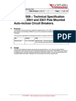 Technical Specification for 11kV, 20kV and 33kV Pole Mounted Auto-Reclose Circuit Breakers NPS001_009