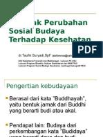 Perubahan Sosial Budaya Kesehatan